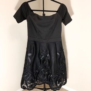 Fine detailed black dress